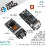 Détail du Module Caméra Timer ESP32 PSRAM (OV3660) U082