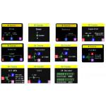 Détail des différentes mesures de l'analyseur de composant JT-LCR-T7