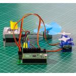 Exemple d'utilisation d'un module Raspberry Pi Pico et de moteurs avec la Platine robotique KITRONIK 5329