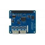 Vue de dessus de platine DIgilent® mesure thermocouple DAQ HAT MCC134 pour Raspberry PI