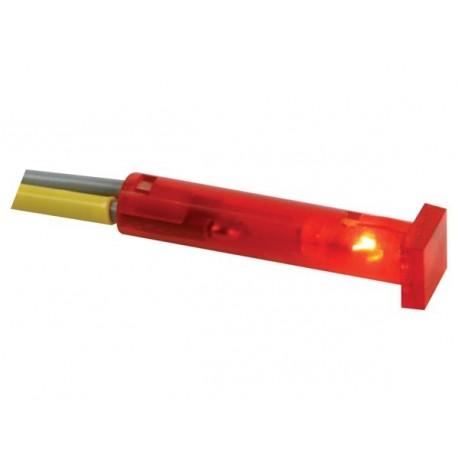 Voyant rouge carré 7x7mm 24V