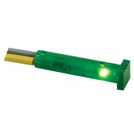 Voyant vert carré 7x7mm 24V