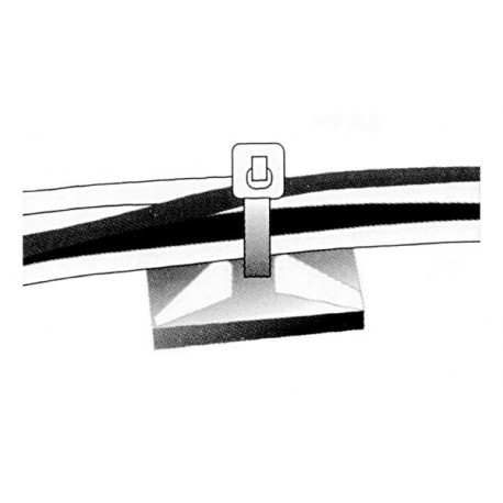 10 bases pour serre-câble (non incl.)