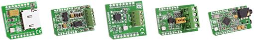 Découvrez la gamme de modules Click Board