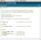 Copie écran de l'IDE de l'arduino DUE