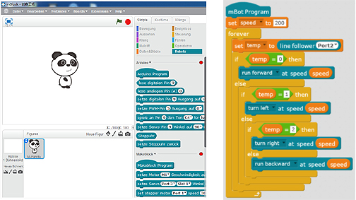 mBot programmable en Scratch
