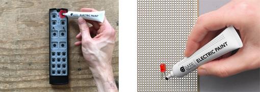 Usages possibles avec la peinture conductrice Electric Paint