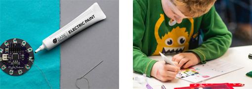 Mise en situation de l'utilisation de la peinture conductrice Electric Paint
