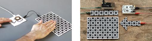 Exemple d'application des capteurs imprimés Bare Conductive