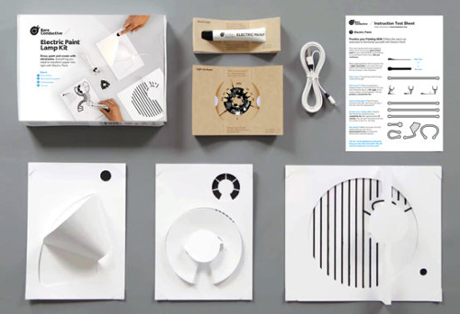 Contenu du stater kit Electric Paint Lamp Kit