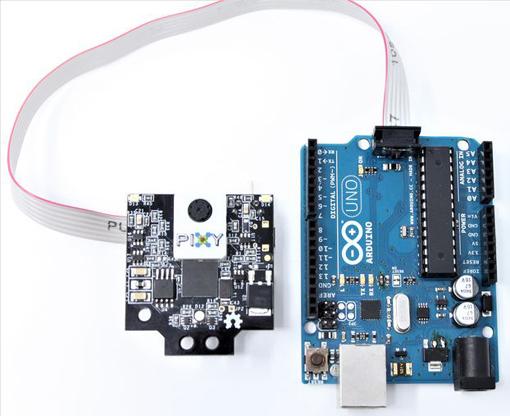 Raccordement de la Pixy 2 sur un Arduino
