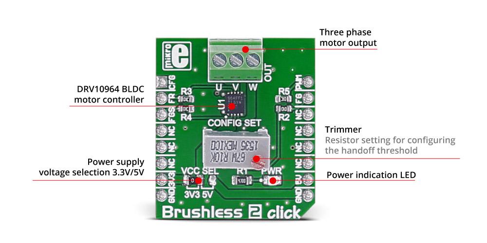 Détail de module Brushless 2 clik MIKROE-2754
