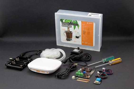 Détail de contenu du kit EcoDuino d'arrosage automatique KIT0003
