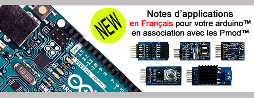 Notes d'applications pour Pmod et arduino
