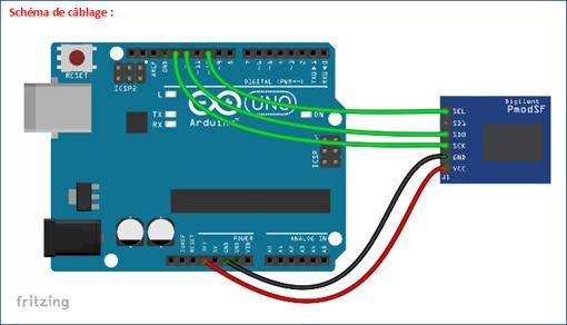 Raccordement du module à l'arduino™