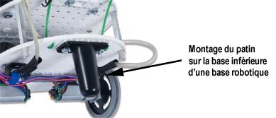 Exemple d'utilisation du patin sur une base robotique