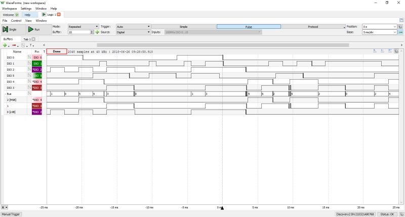 Fonction analyseur logique de l'Analog Discovery Studio