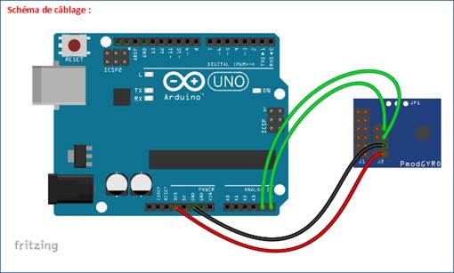 Module PmodGyro et Arduino