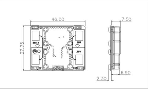 Caractéristiques mécanique du MDU2750L