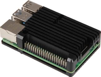 Exemple de montage du boîtier Armor Case sur une Raspberry Pi 4