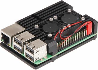 Exemple de montage du boîtier Armor Case sur une Raspberry Pi 3B+
