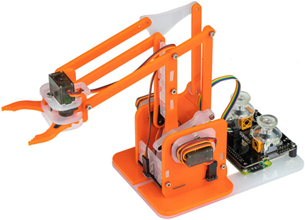 Bras robotique MeArm Robot Kit en version Orange