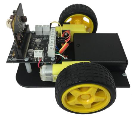 La base complète Kitronik Buggy suiveur de ligne pour micro:bit