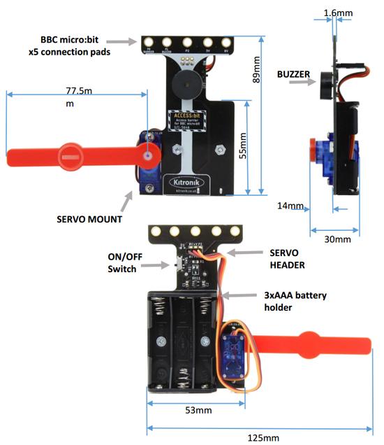Dimensions du module ACCES:bit