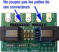 Cablâge de la platine pour une utilisation avec une arduino