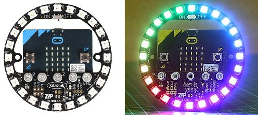 Exemple d'utilisation de la platine ZIP Halo avec une carte micro:bit