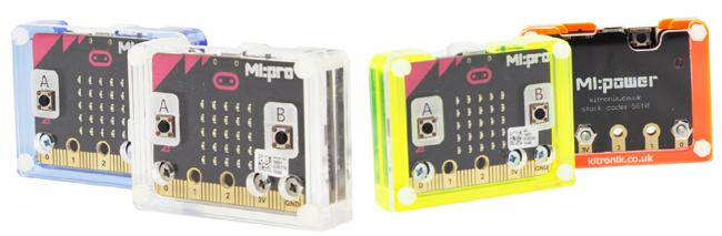 Détail des différent coloris des plaques protectrice Mi:pro 5611 de Kitronik