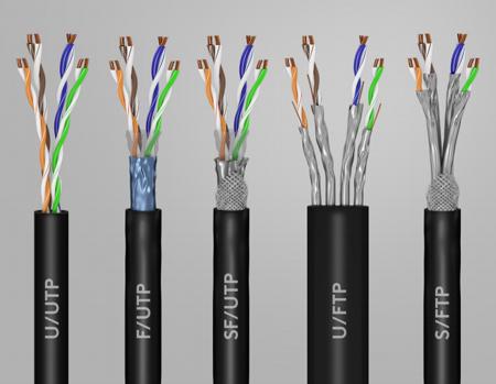 Différence entre les câbles RJ45 U/UTP F/UTP SF/UTP U/FTP S/FTP