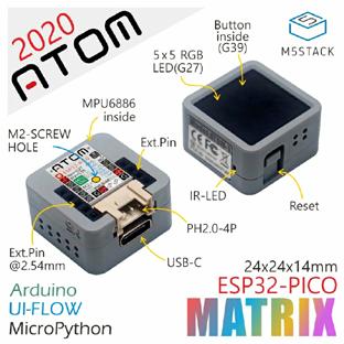 Détail des possibilités du module iOT ATOM Lite ESP32