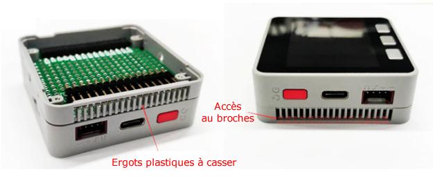 Explication de l'utilisation du connecteur coudé de l'extension BUS pour IoT M5STACK