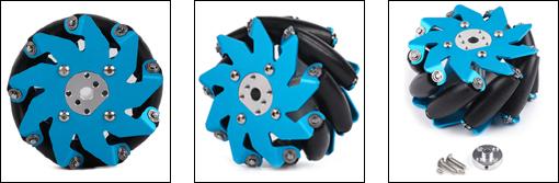 Détail de la roue à rouleaux