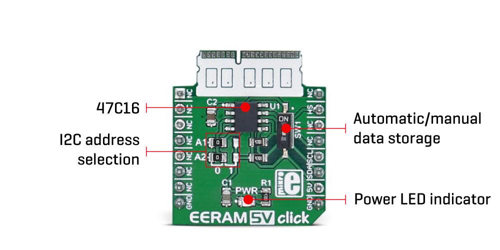 Détail du module MIKROE-2729 ERRAM 5V Click