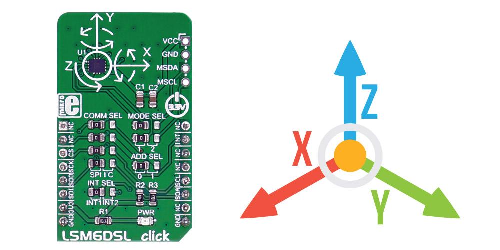 Module MIKROE-2731 LSM6DSL Click