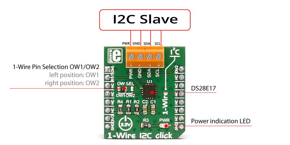 Détail du module Interface 1Wire - I2C Click MIKROE-2750