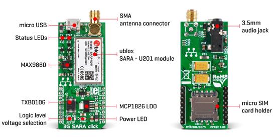 Module 3G SARA Click MIKROE-2244