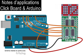 Notes d'applications pour Click Board et carte Arduino