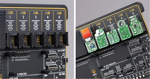 Emplacements pour modules ClickBoard