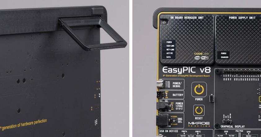 Finition incomparable de la platine EasyPIC8