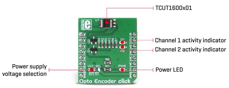 Détail du module MIKROE-2549 Opto Encoder Click