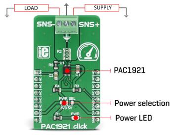 Détail du module PAC1921 Click MIKROE-2910