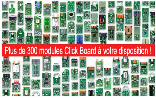 Présentation des 300 modèles Click Board Mikroelektronika
