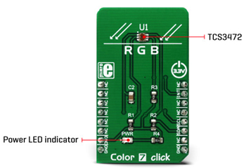 Module détail du module Color 7 Click MIKROE-3062
