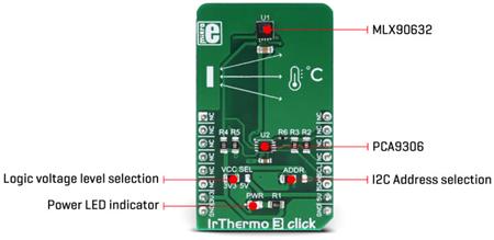 Détail du module IrThermo 3 click MIKROE-3121