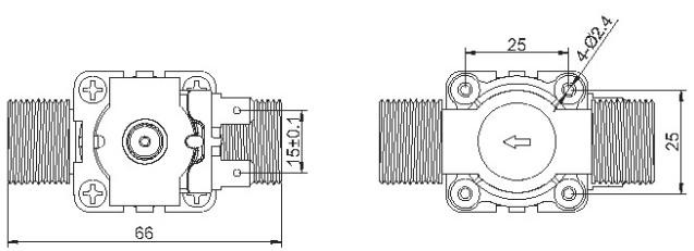 Schéma de l'électrovanne 12 V LEX-VALVE2