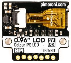 """Face arrière de l'afficheur SPI 0,96"""" PIM436"""