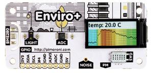 Face avant du module Pimoroni Enviro+ PIM458